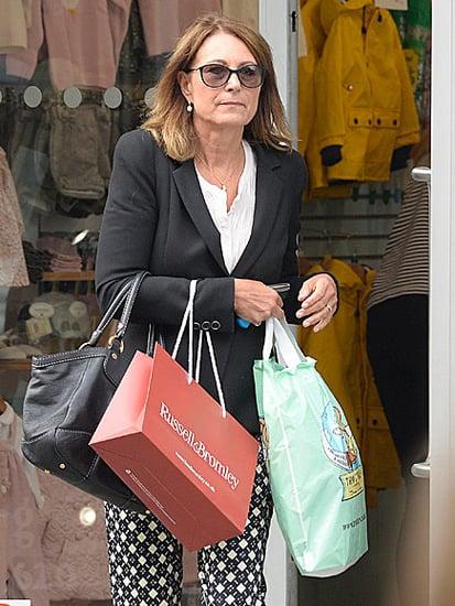 Princess Charlotte's Grandma Carole Middleton Shops the Baby Racks in London