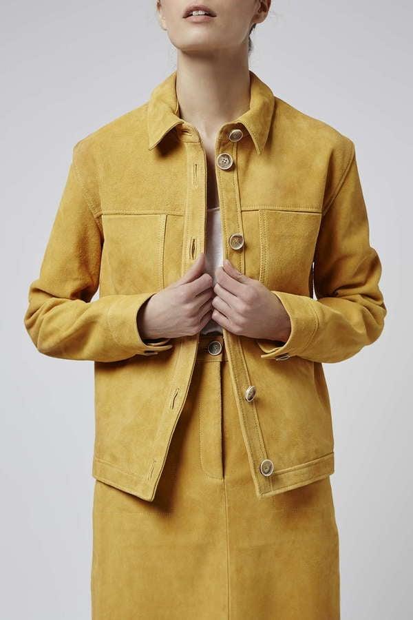 Topshop Boutique Suede Harrington Jacket ($370)