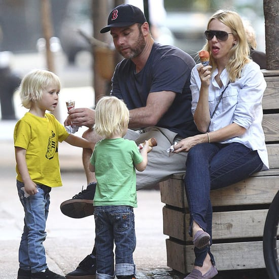 Pictures of Naomi Watts, Liev Schreiber, and Kids