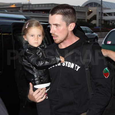 Christian Bale and Emmaline Bale at LAX