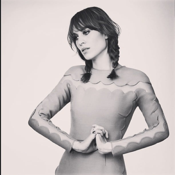 Alexa Chung did Valentino proud in a pretty scalloped dress while modeling for MyTheresa.com. Source: Instagram user chungalexa