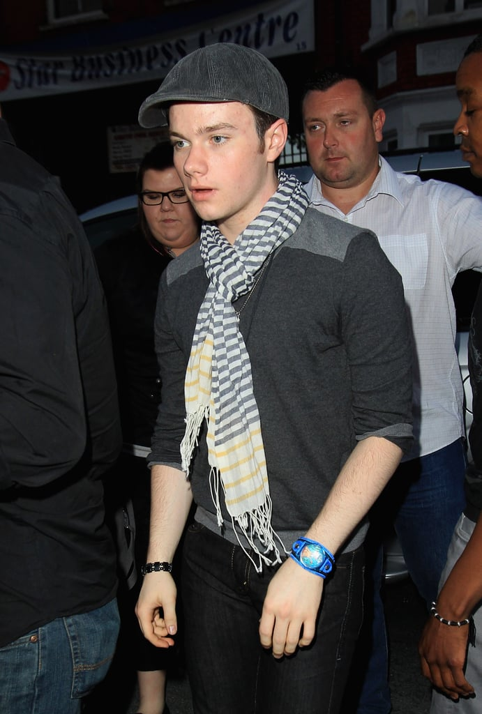 Chris Colfer of Glee also attended Beyoncé Knowles'w secret show.
