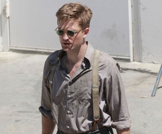 Slide Picture of Robert Pattinson Filming Water For Elephants