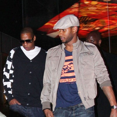 Usher and Jay-Z Out in LA