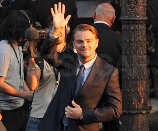 Slide Picture of Leonardo DiCaprio at the Paris premiere of Inception
