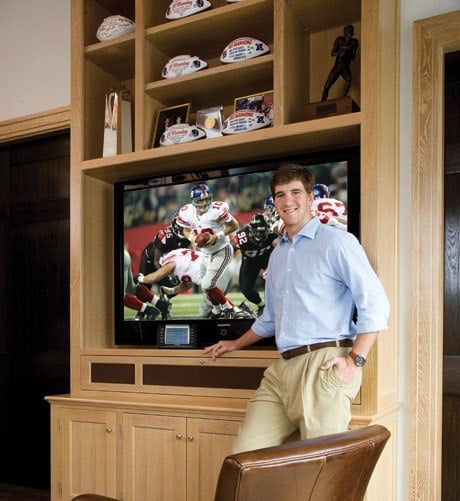 Coveted Crib: Eli Manning's Jersey Digs