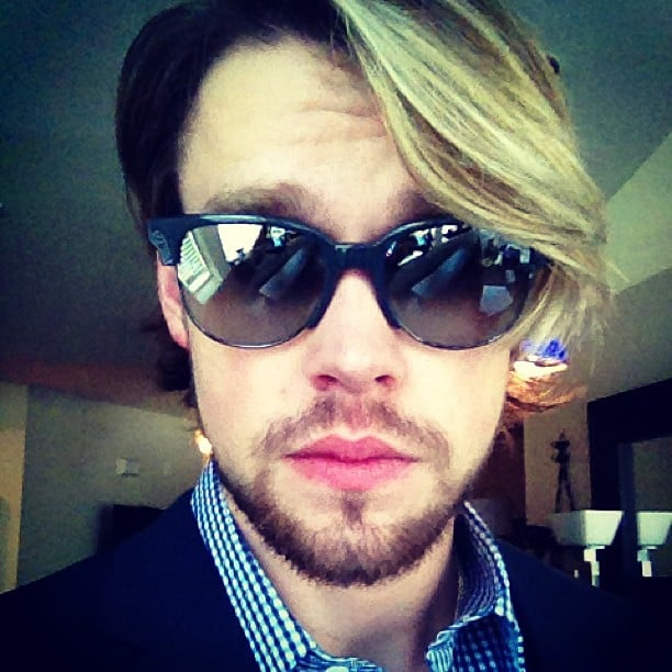 Chord Overstreet showed off some new facial hair before heading to the BMI Awards. Source: Instagram user chordover