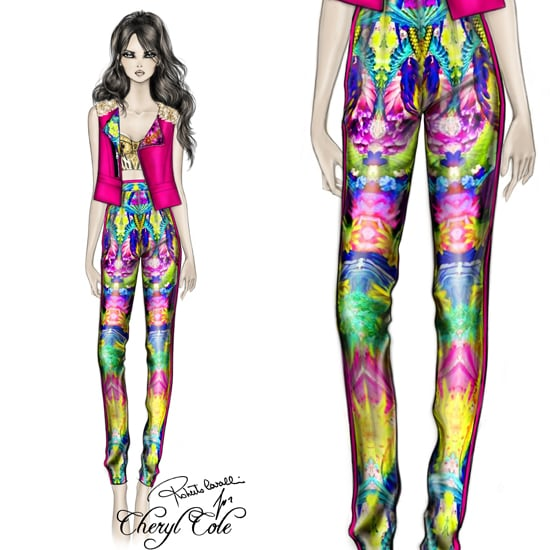 Cheryl Cole Custom Cavalli Tropical Trousers on The Voice UK