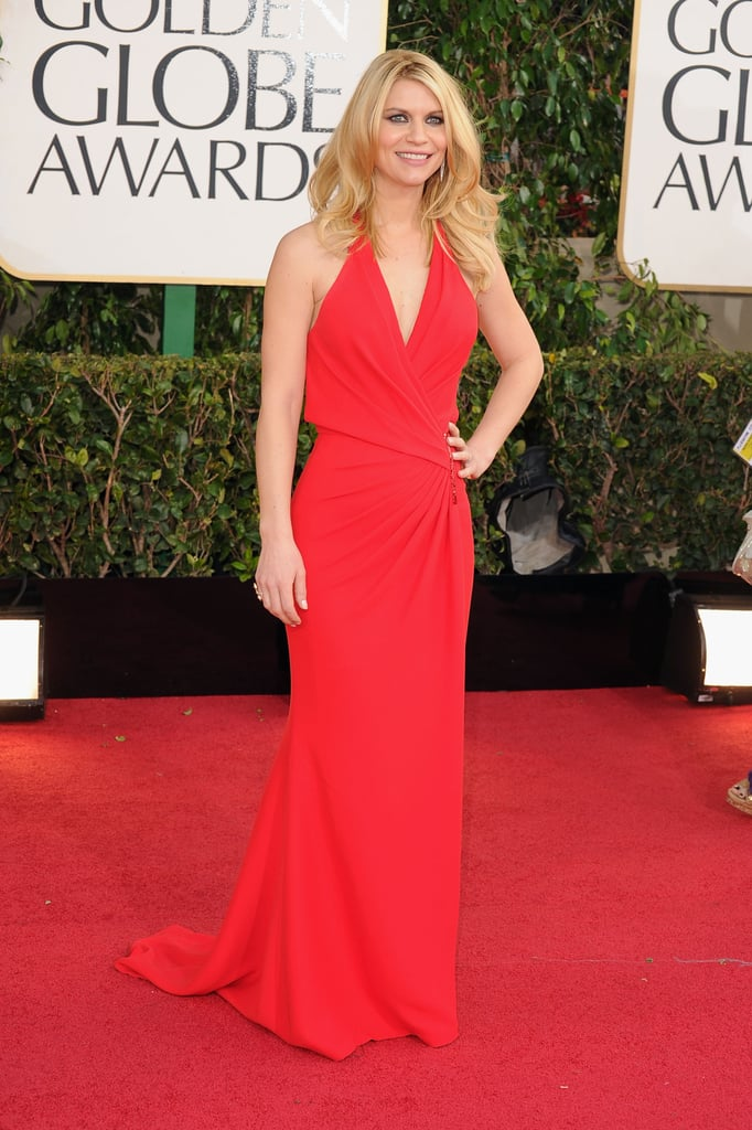 Claire Danes arrived at the 2013 Golden Globes.