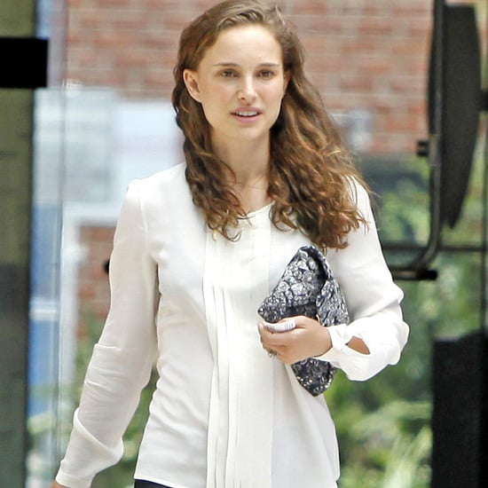 Natalie Portman Wears White to Business Meeting | Pictures