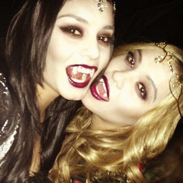 Vanessa Hudgens tackled the vampire trend as well. Source: Instagram user vhofficial