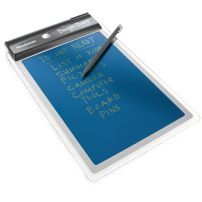 If he's someone who can't live without Post-It notes, this LCD writing tablet ($40) is a welcome upgrade. It's superthin and comes with a stylus so he can create lists, notes, and doodles.