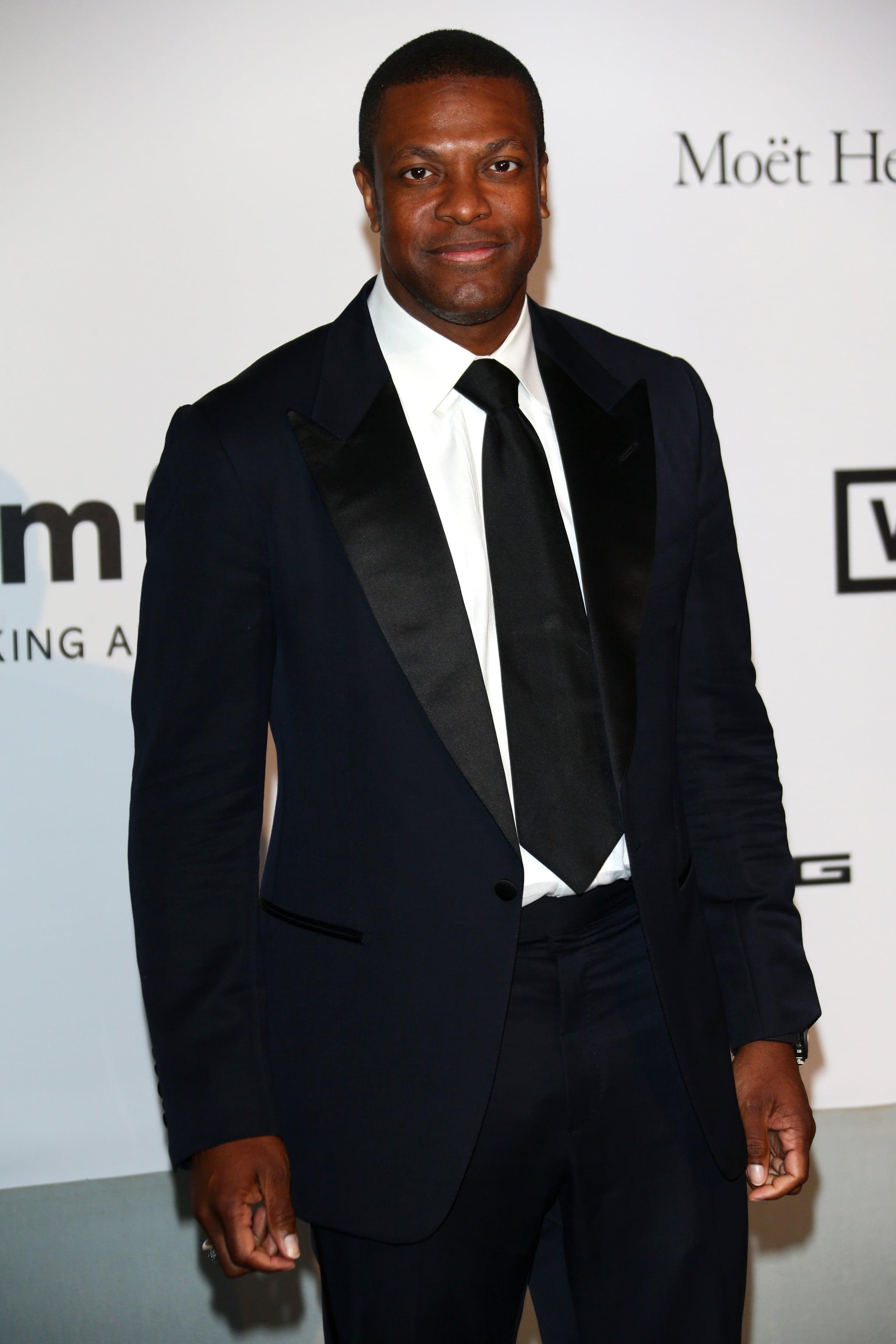 Chris Tucker arrived at the amfAR Cinema Against AIDS Gala.