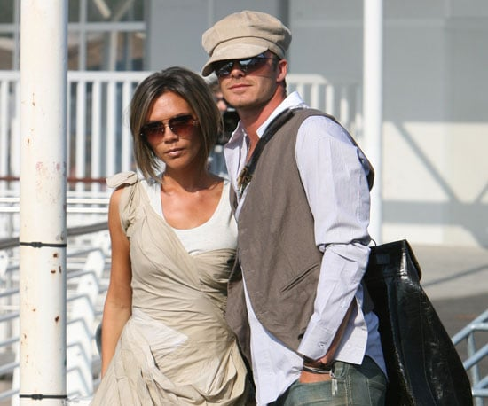 David and Victoria's outfits complemented one another at the Venice Film Festival in September 2006.