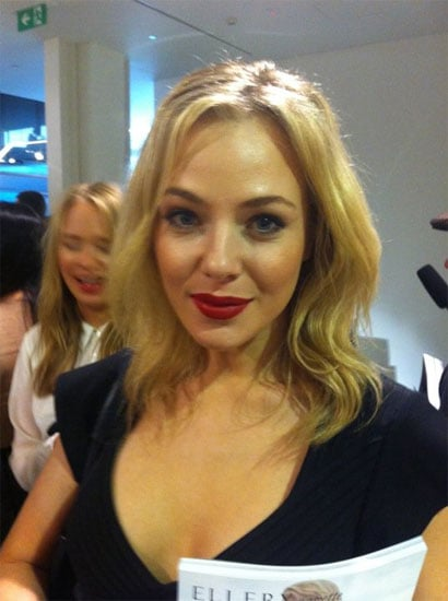 Jessica Marais wore red lipstick to Ellery in 2011.
