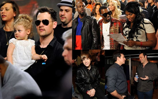 Photos of Nicole Richie, Joel Madden, Harlow Madden, Jennifer Hudson, Justin Bieber, and Jonas Brothers Recording a Haiti Single 2010-02-02 08:32:10