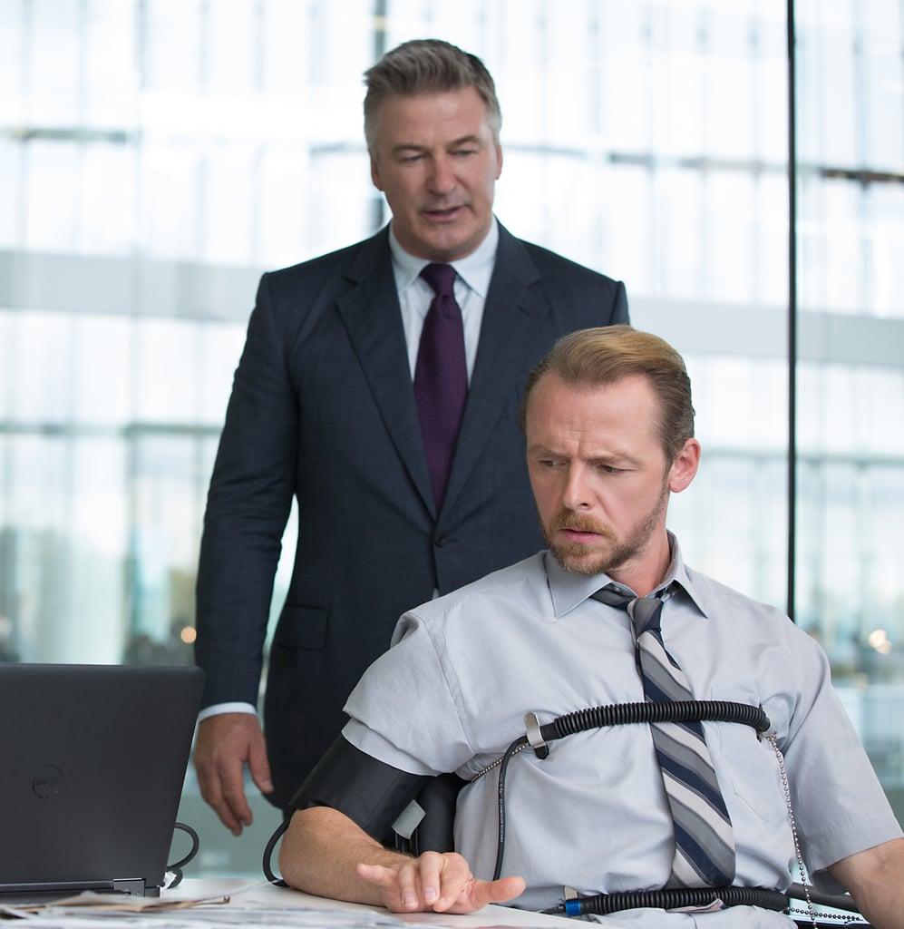 Alec Baldwin as Hunley and Simon Pegg as Benji.