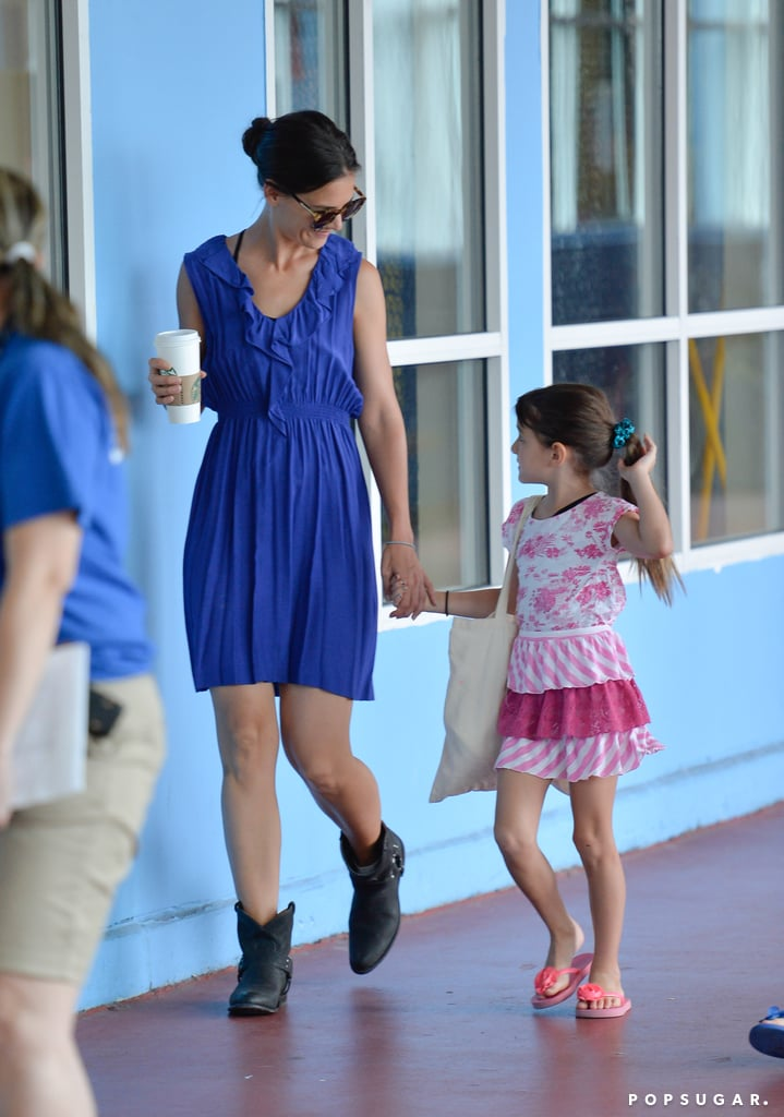 Katie Holmes and Suri Cruise visited Chelsea Piers.