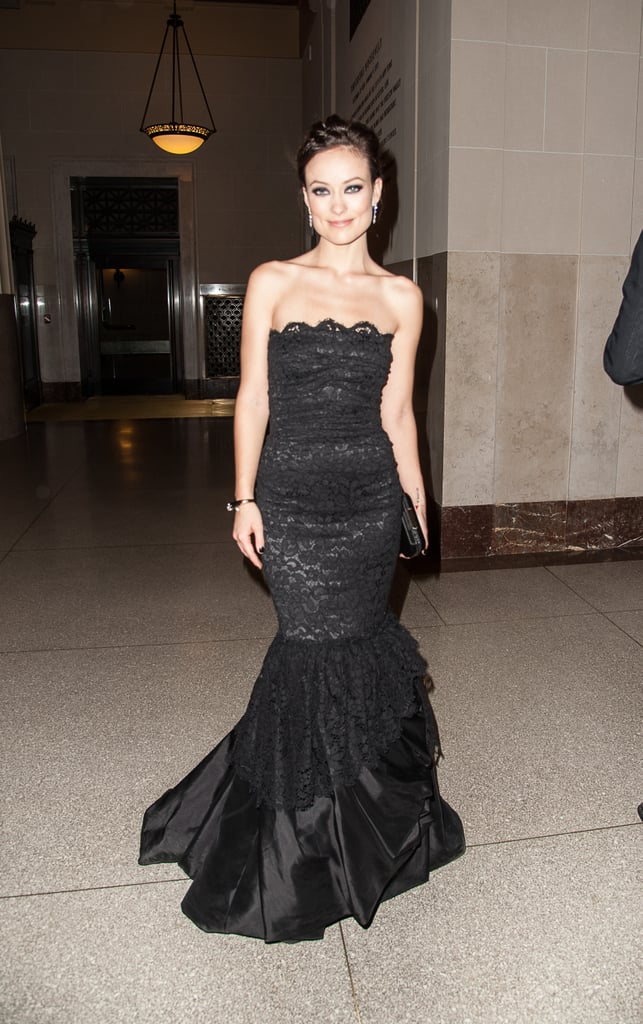 Olivia Wilde went strapless for the gala.
