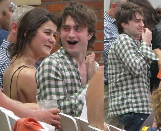 More Pictures of Daniel Radcliffe With His New Girlfriend Olive Uniacke at the Cricket at the Oval