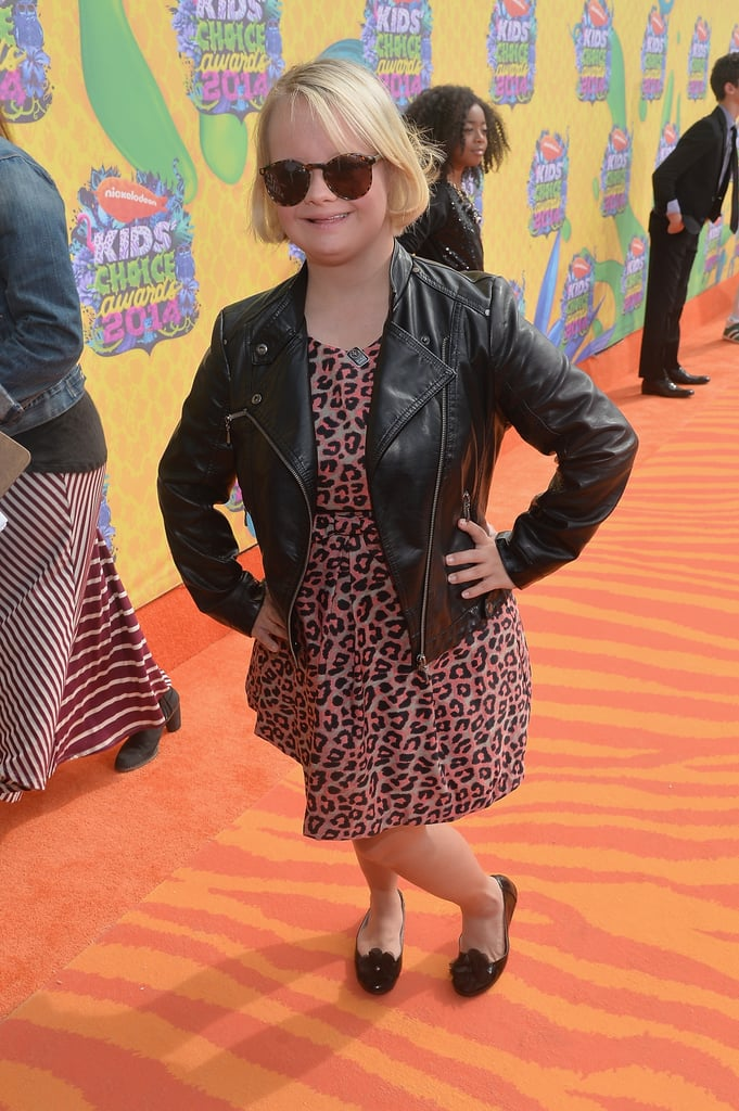 Lauren Potter brought her Glee enthusiasm to the red carpet.