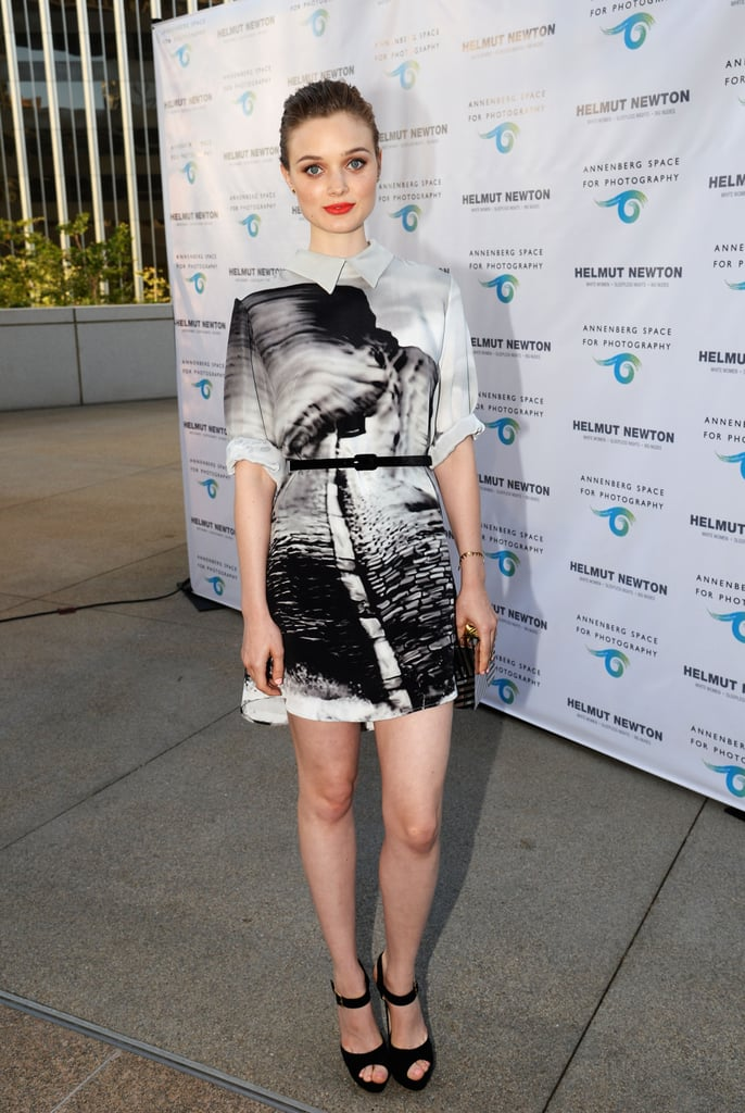 Bella Heathcote looked fittingly artistic for the Helmut Newton: White Women – Sleepless Nights – Big Nudes opening event.