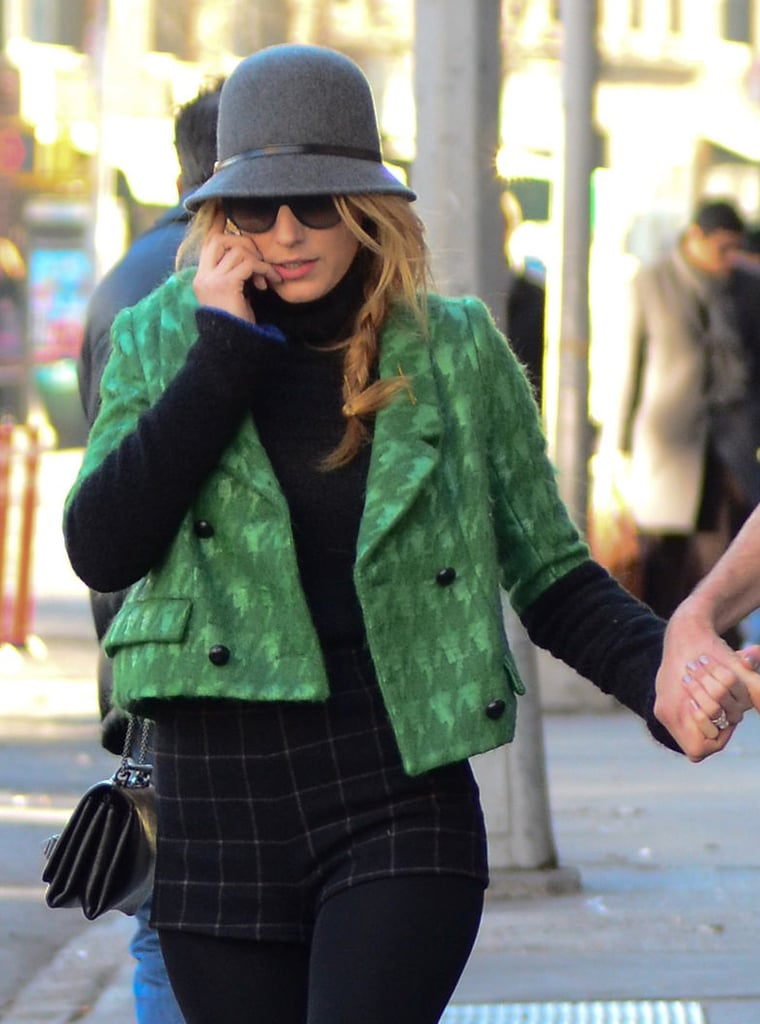 Blake Lively walked through NYC. Source: BSP/X17online.com