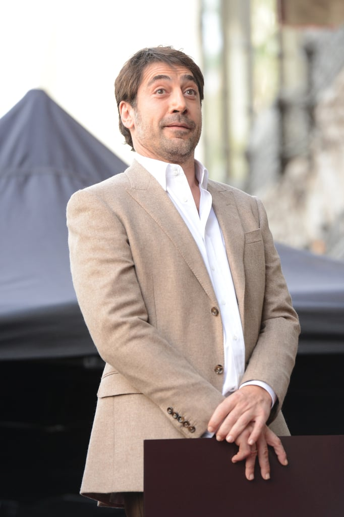 Javier Bardem accepted the honor from the Hollywood Chamber of Commerce.
