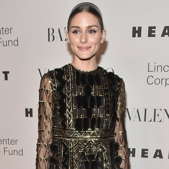 Olivia Palermo Wearing Gold Valentino Dress