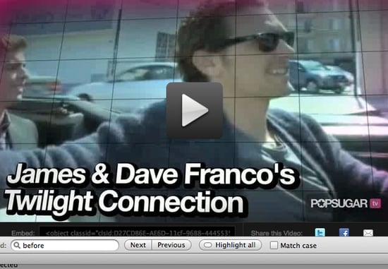 Video of James and Dave Franco Talking Twilight