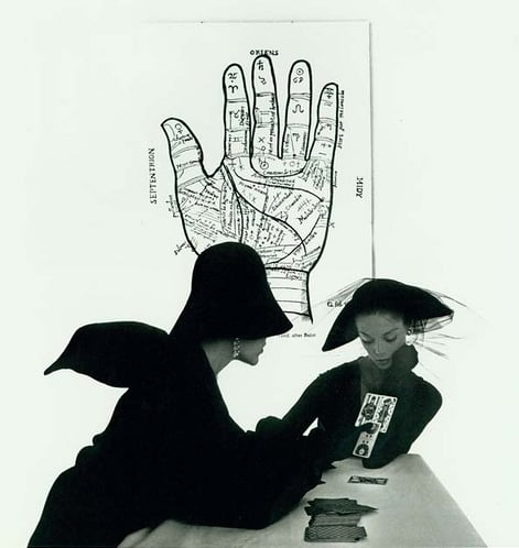 The Tarot Reader (Jean Patchett & Bridget Tichenor), New York, 1949