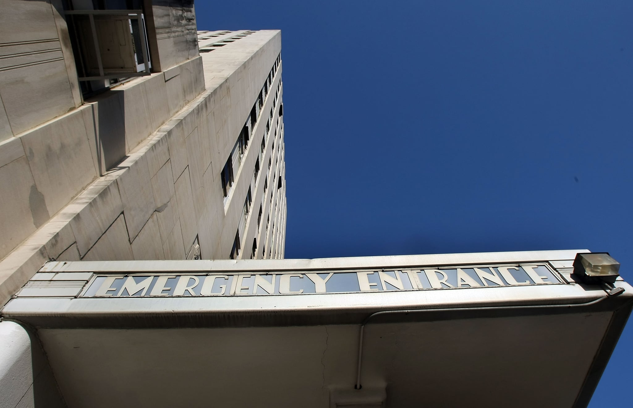 The front of Charity Hospital in New Orleans, Louisiana