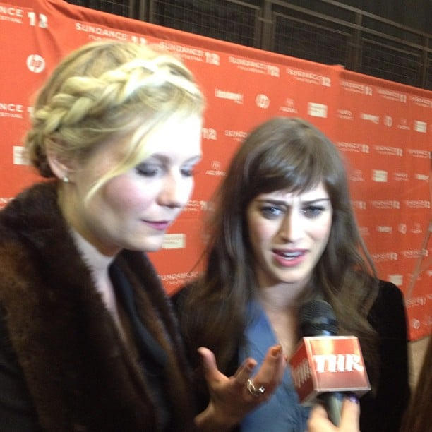 Kirsten Dunst and Lizzy Caplan shared stories about working on Bachelorette during their Sundance Film Festival screening.
