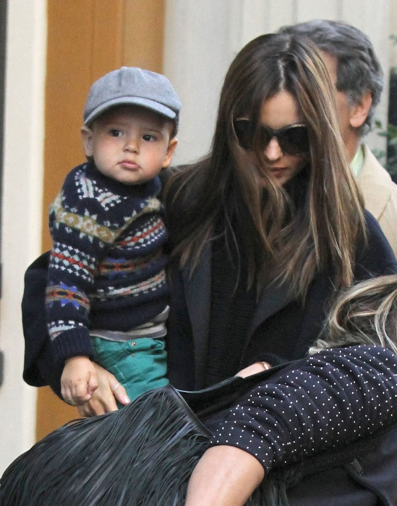 Miranda Kerr walked with her son, Flynn, in NYC.
