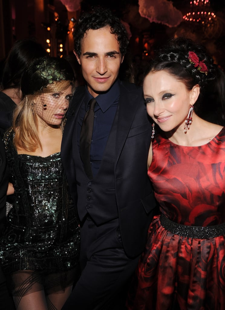 Zac Posen posed with his ladies: Alice + Olivia's Stacy Bendet and Tara Subkoff.