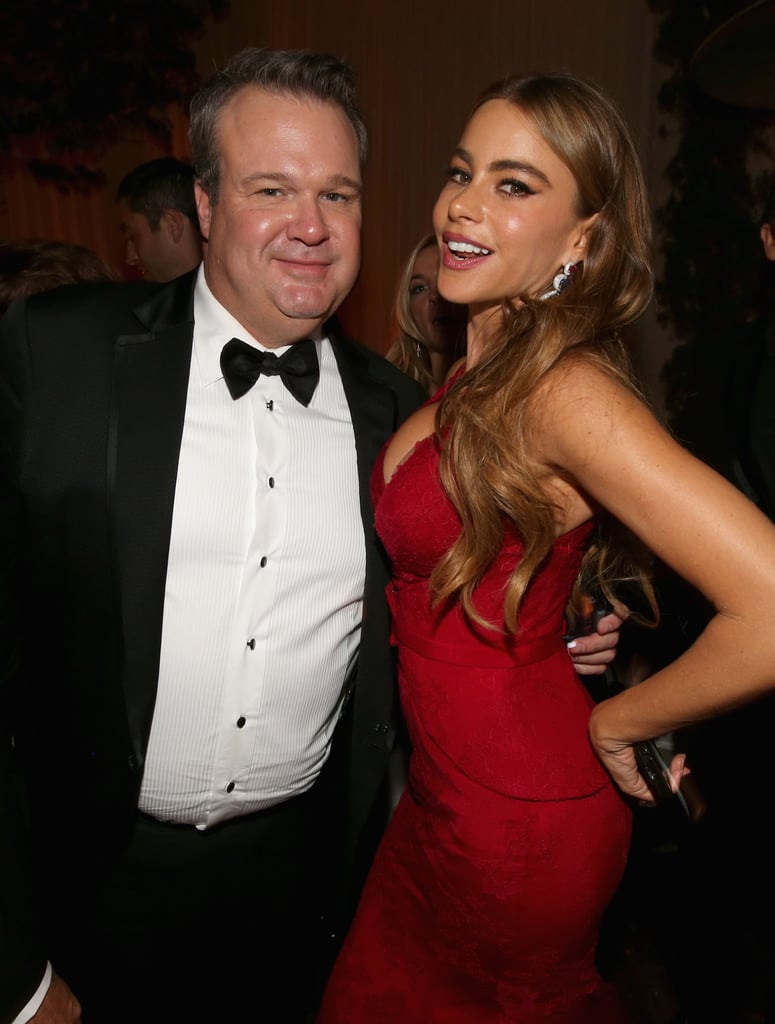 Sofia Vergara mingled with Eric Stonestreet at the Fox after party.