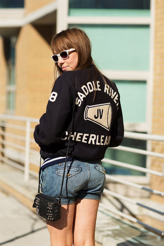 We're seeing letterman jackets pop up everywhere, so snap up this sporty-cool style yourself for a fresh Summer dressing option.