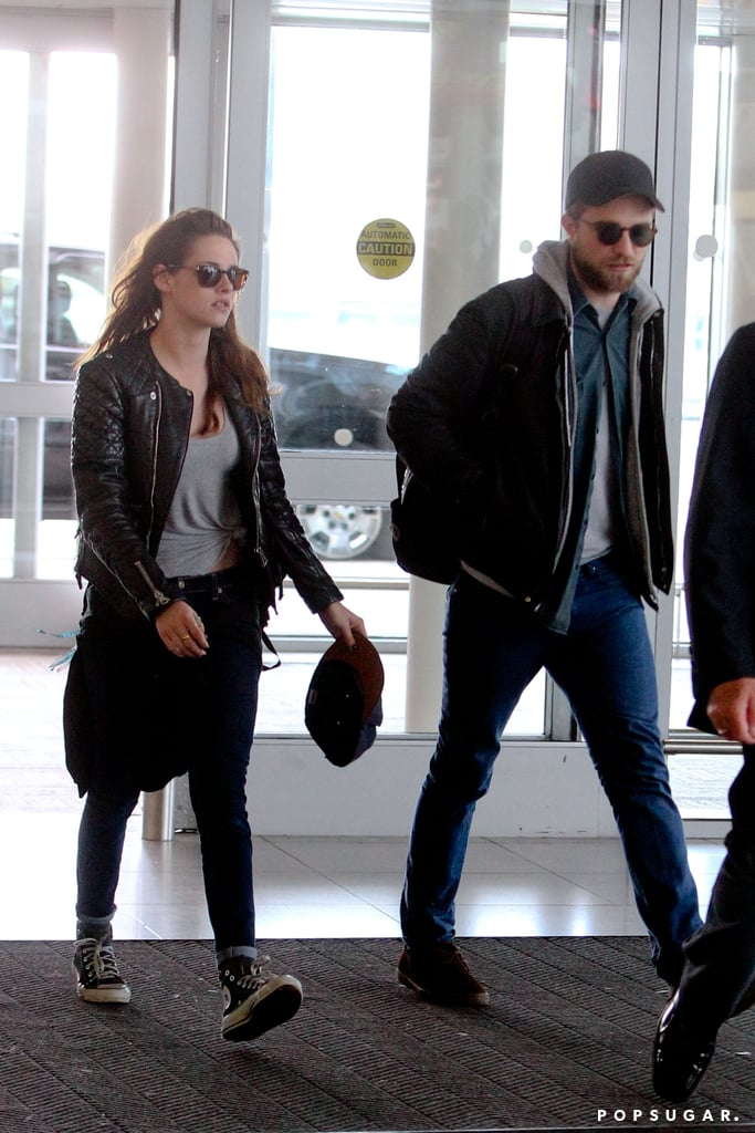 Robert Pattinson and Kristen Stewart arrived at JFK together.