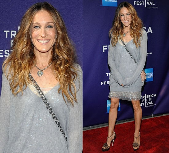 Sarah Jessica Parker Wears Stella McCartney and Brian Atwood at Tribeca Film Festival