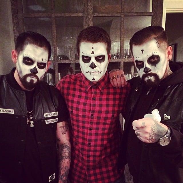 David Katzenberg snapped a spooky picture with Joel Madden and Benji Madden. Source: Instagram user davidkatzenberg