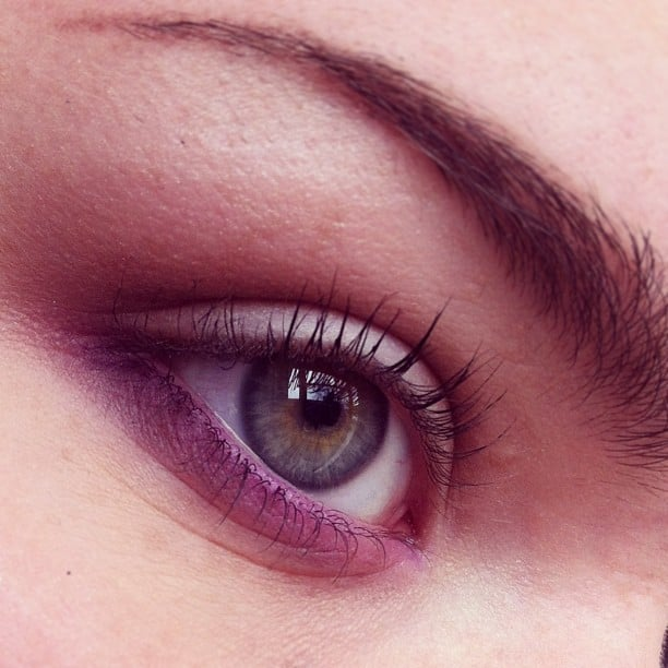 Ombré pink shadow just needs a touch of mascara to finish it off. Source: Instagram user becssamps