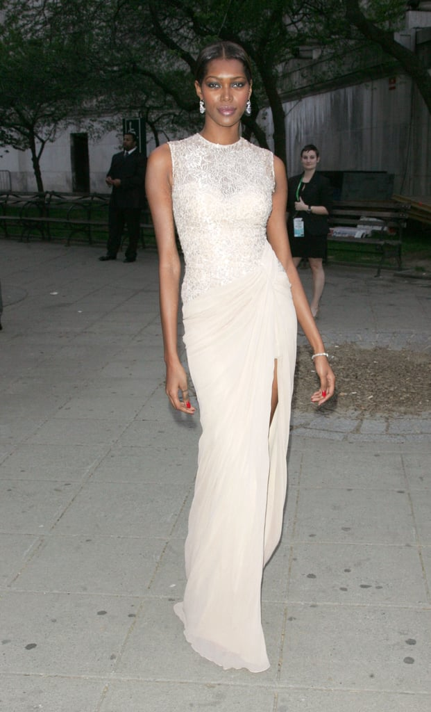 Jessica White struck a pose at the Vanity Fair bash to kick off the 2012 Tribeca Film Festival.
