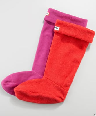 I never knew that Hunter Boots had special Hunter Boots Welly Fleece Socks ($30). They look like Christmas stockings!