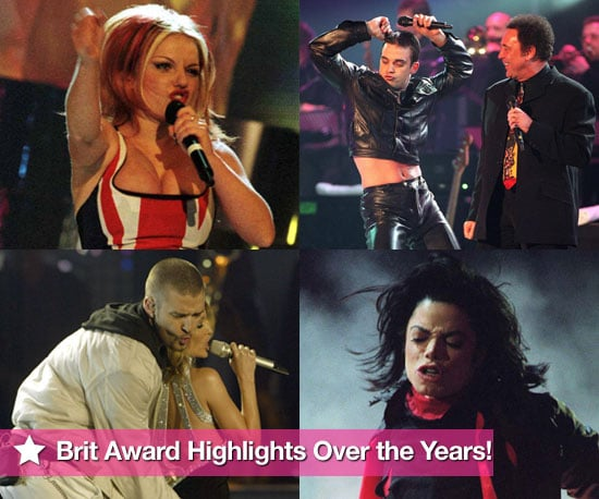 Extensive Photo Gallery of Celebrities at the Brit Awards Over the Years Including Geri Halliwell's Union Jack Dress
