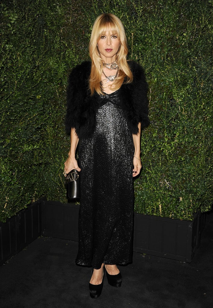 Rachel Zoe went all black for Chanel's party.