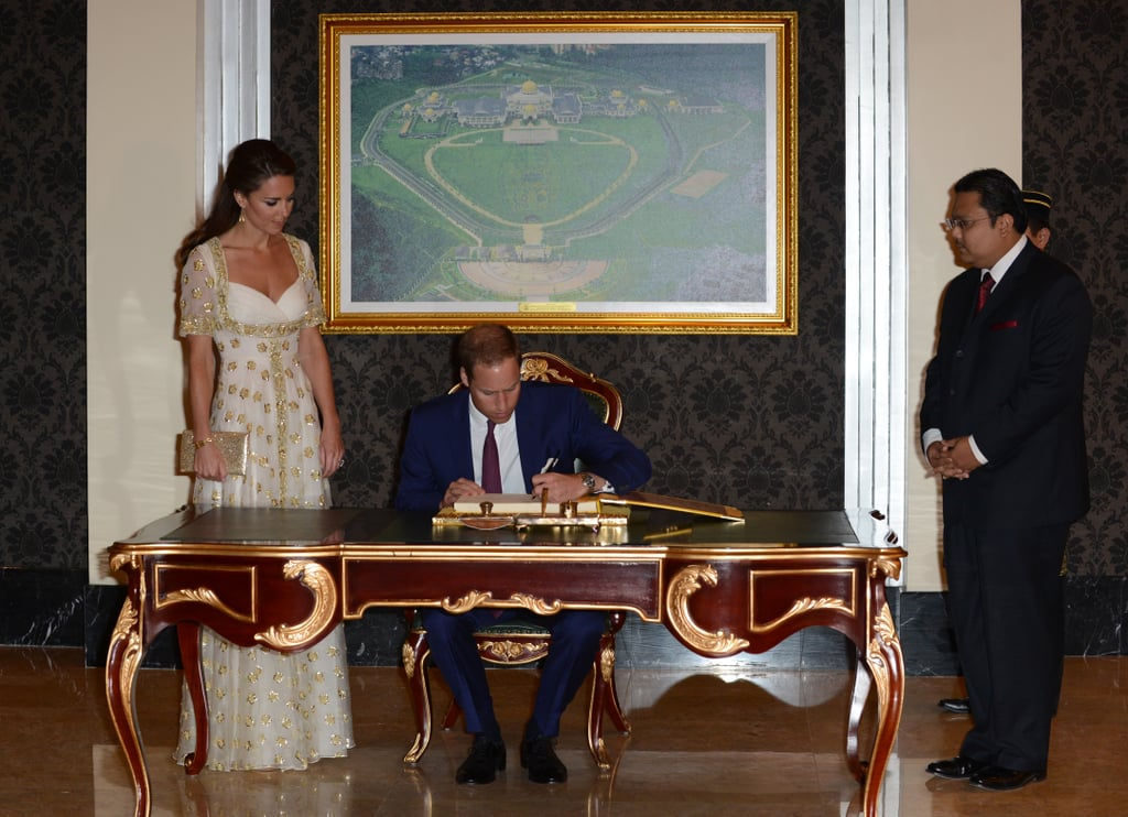While in Kuala Lumpur in September, Prince William and Kate Middleton signed the visitors' book during an official dinner hosted by Malaysia's head of state.