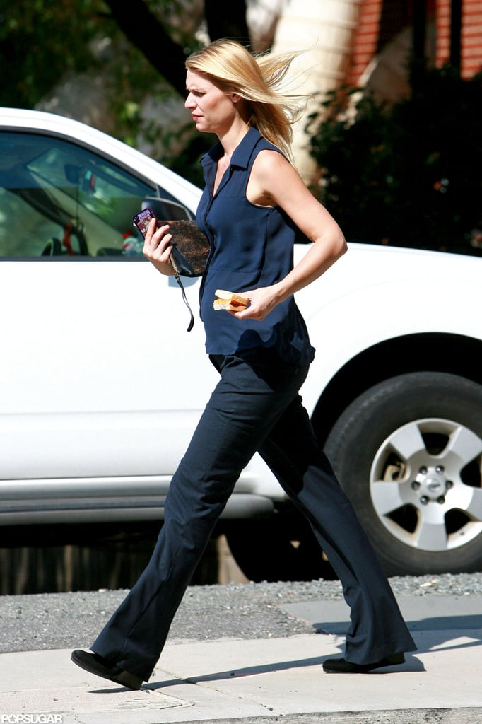 Pregnant Claire Danes is still hard at work for her show Homeland.