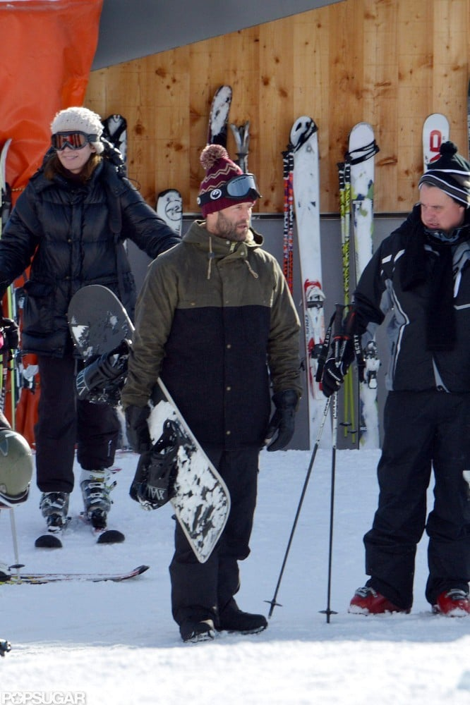 Jason Statham spent time snowboarding in the French Alps.