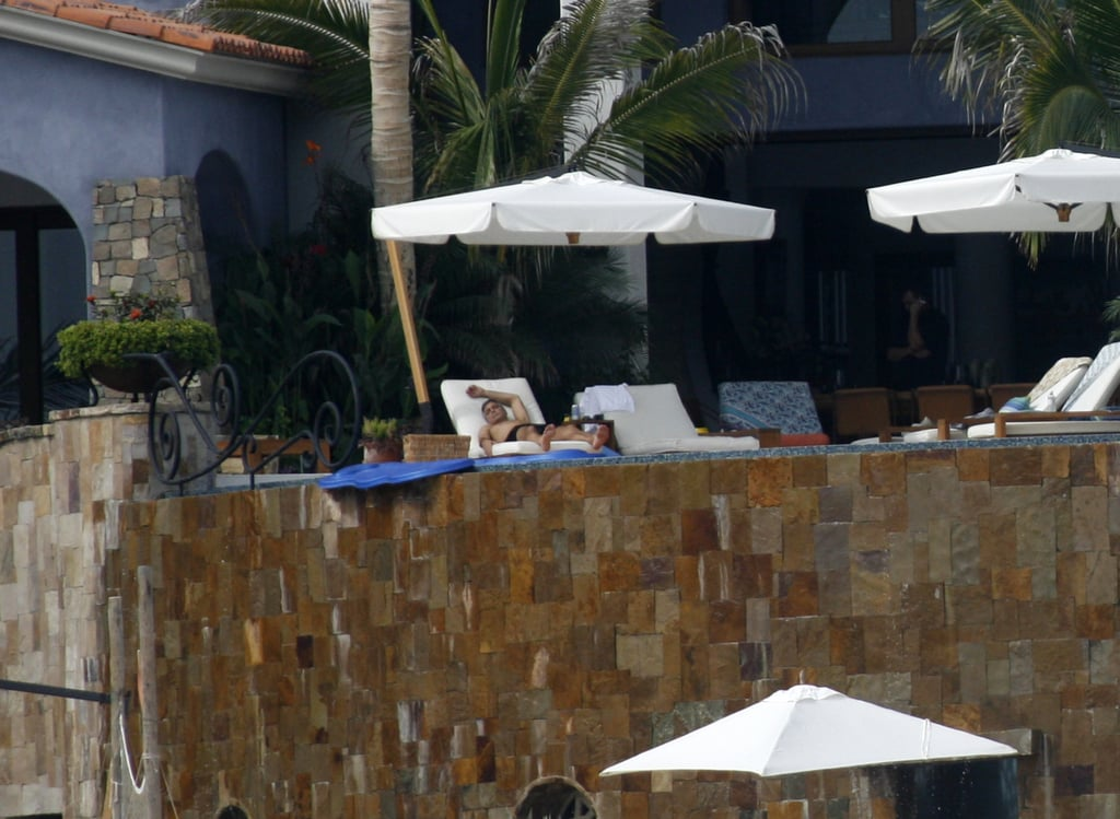 George Clooney Relaxing in Mexico