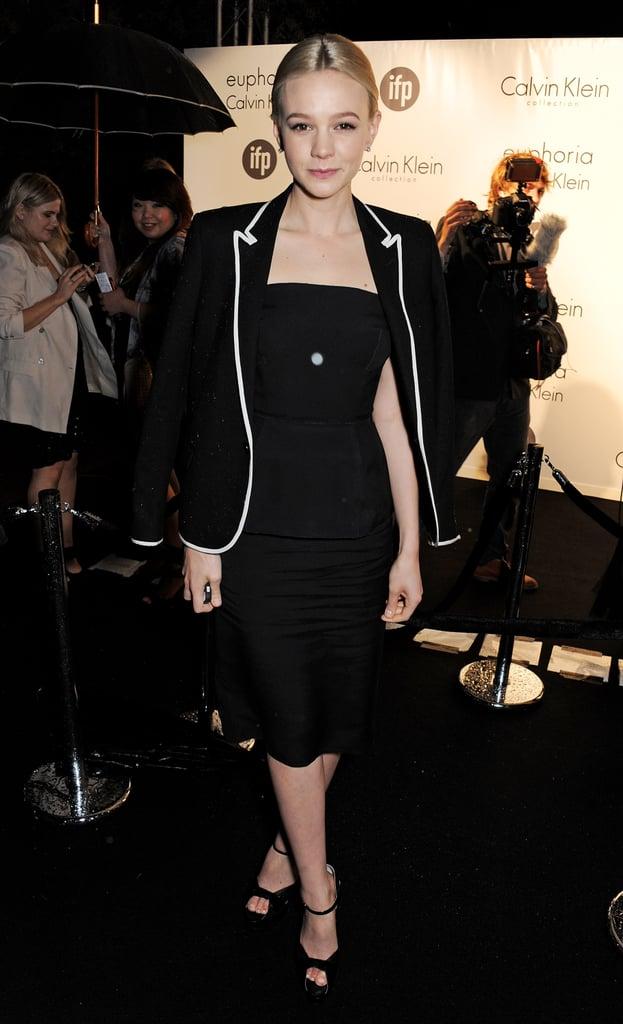 Carey Mulligan kept it chic on Thursday at a Calvin Klein bash.
